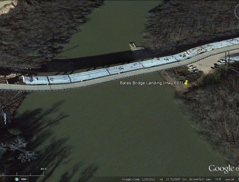 Bates Bridge Landing (GoogleEarth)