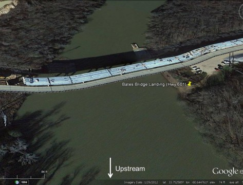 Bates Bridge Landing Altered (GoogleEarth)