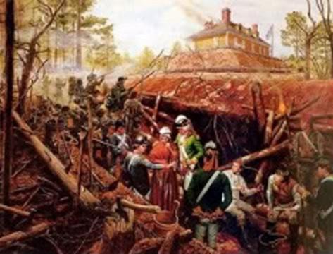 Fort Motte (Artist: Mort Kunstler)