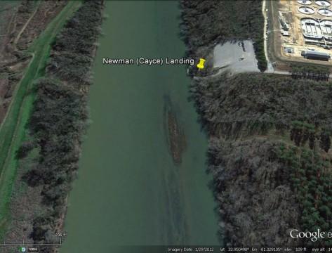 Newman Landing (Google Earth)