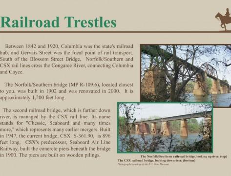 Norfolk Southern Railroad Bridge Sign (The River Alliance)