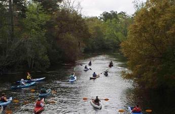 Paddling the Ashley River, Dorchester State Park, SC   Credit:  Ashley Chapman, Park Manager at Historic Dorchester