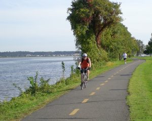 Biking Along River - Flickr Creative Commons